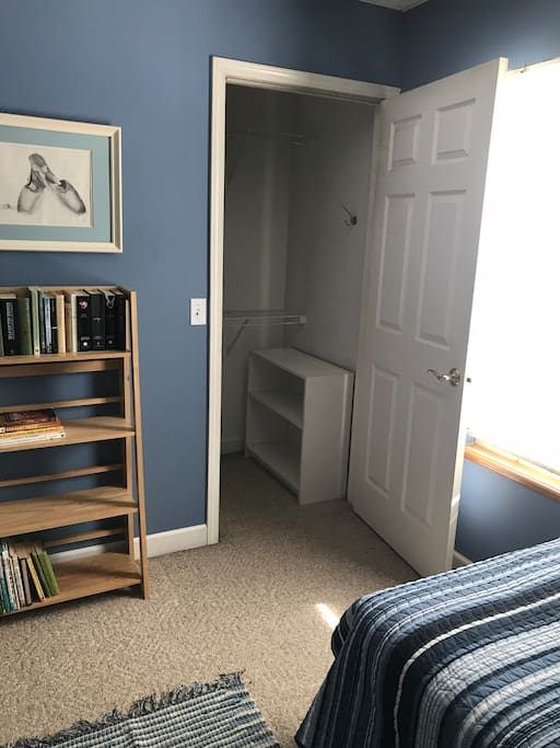 Blue Room with walk in closet