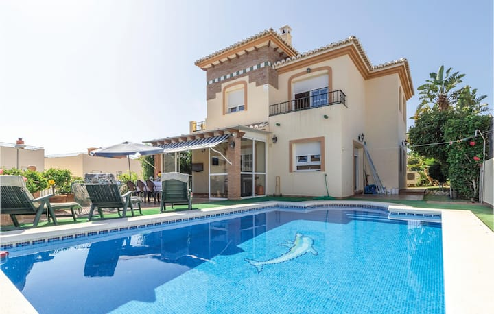 Nice home in Benajarafe with Outdoor swimming pool, WiFi and Outdoor swimming pool