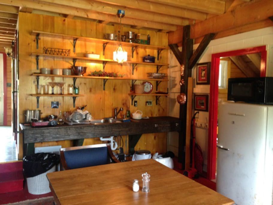 Common kitchen in the lodge