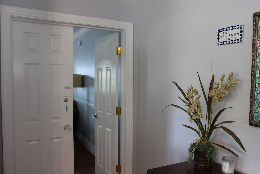 Private Entrance to 2 bedroom unit