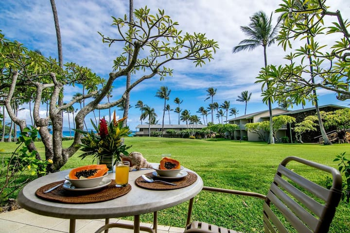 E Komo Maui - Welcome to Napili Shores G - 156 - ground floor ocean view studio accommodations.