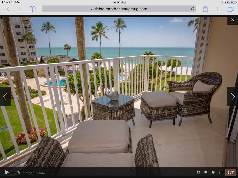 Our balcony overlooking the pool and beach