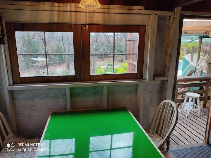 一碧湖畔の森の宿  新たにタイニーダイニングキッチンDIYで作りました!