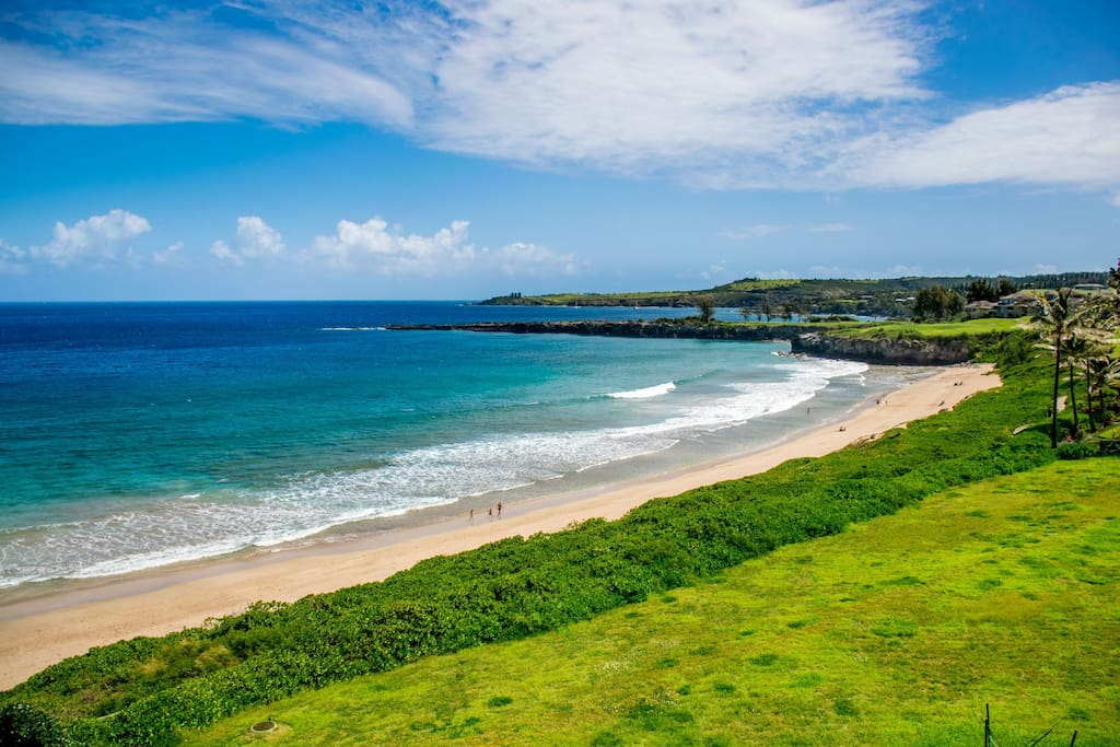 Kapalua Bay Beach is just a short walk from this villa