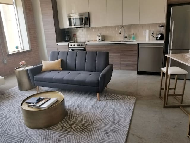 One Bed/Bath Downtown View Loft W/ Free Valet