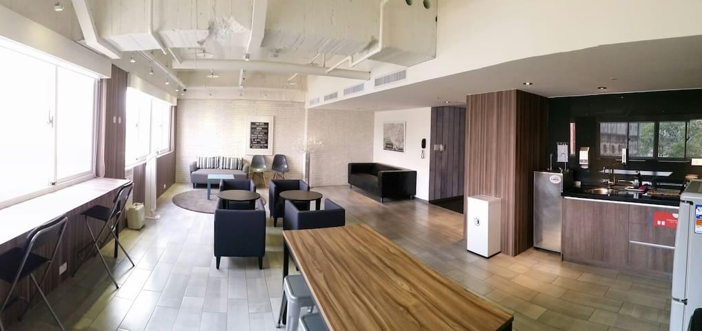 歡樂的宿舍空間(不含早餐)台中車站3分鐘,近宮原眼科、一中商圈 - Central District - Boutique hotel
