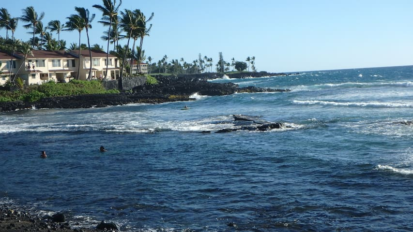 Quiet Kona condo with pool, tennis, beach, golf.