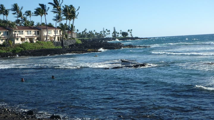 Christmas on the beach near Kona, one week stay.