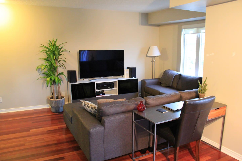 Spacious TV Living Room