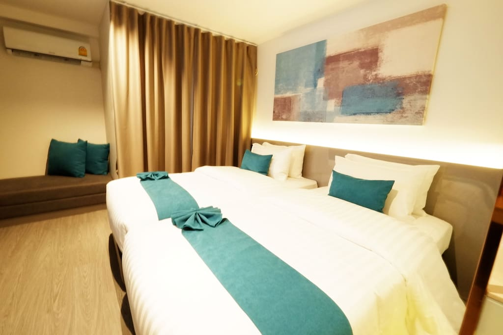 Single bed/ size bed. 20 sq.m/ free ABF/high speed wifi