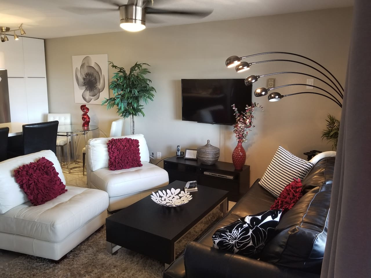 Sitting entertainment area/Living Room & Ceiling Fan