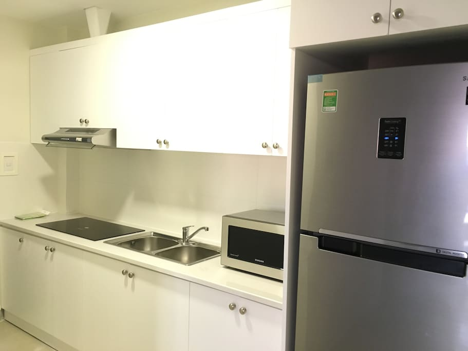 Kitchen with full equipment for your light cooking