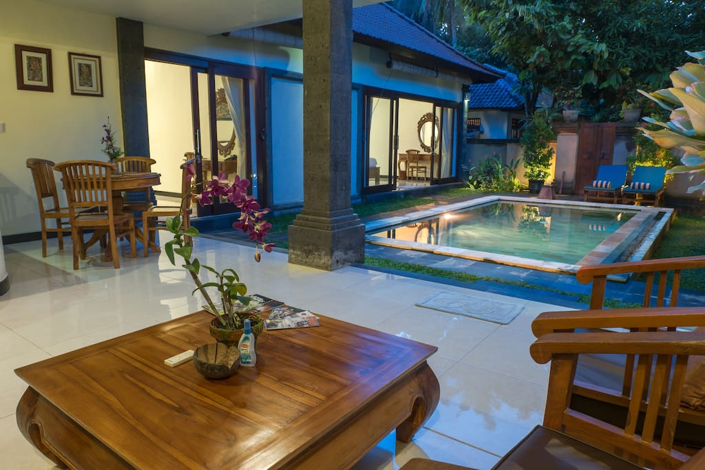 Living in Balinese style Private Villa, it's truly peacefull