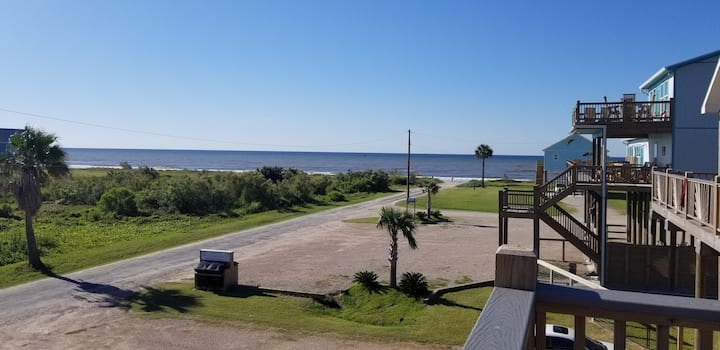Excellent View! Steps from beach! Pet/kid friendly