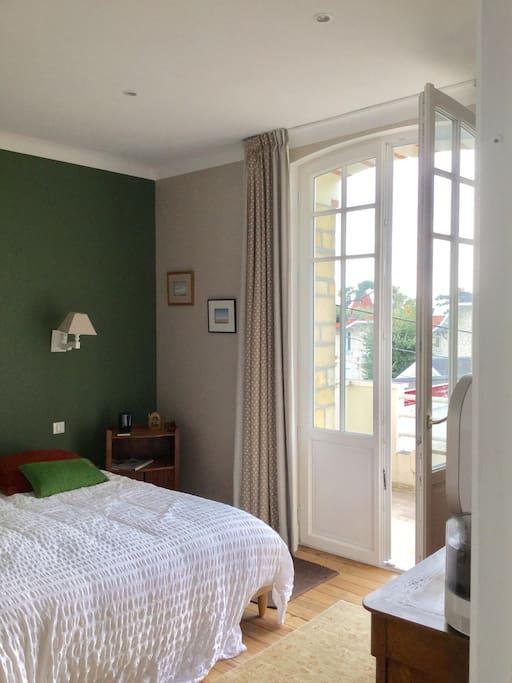 La chambre  Eucalyptus et                 son petit balcon