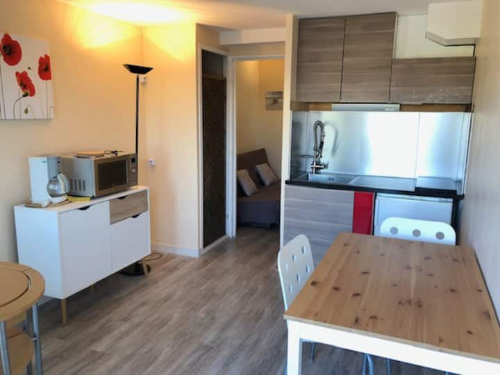 Studio 27m2, très grande terrasse direct sur port