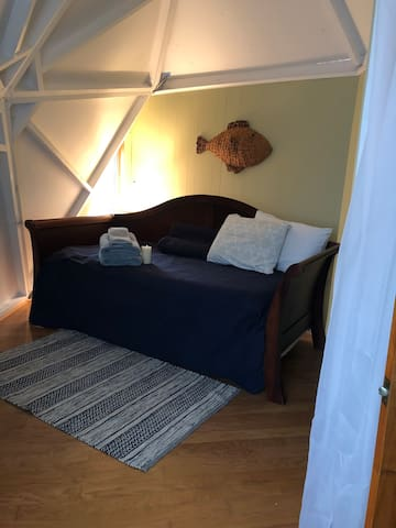 Bedroom with trundle bed. Opens to king or 2 twins