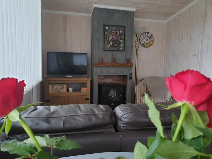 Wooden lodge located in beautiful West Wales