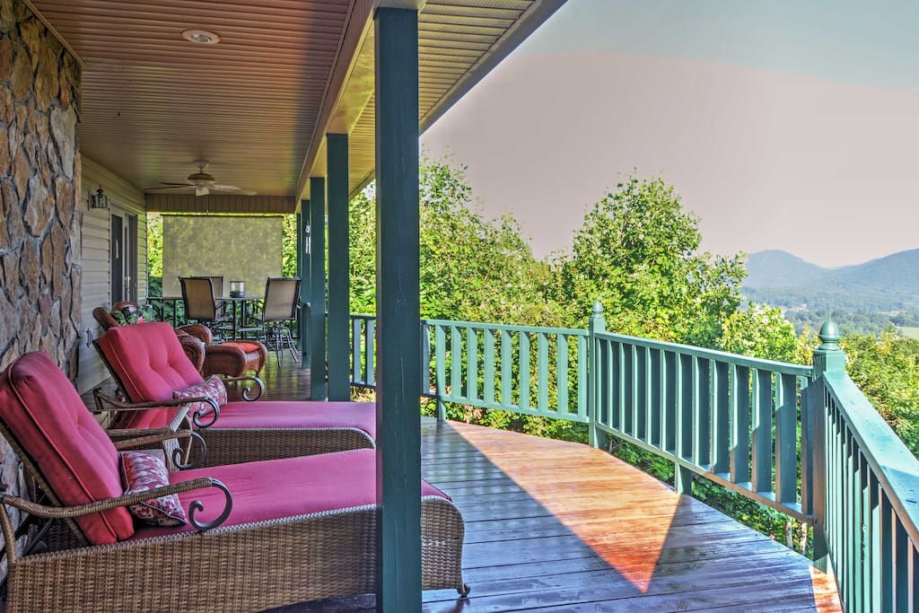 You'll love having abundant outdoor space with stunning views of Lake Chatuge and the Blue Ridge Mountains.