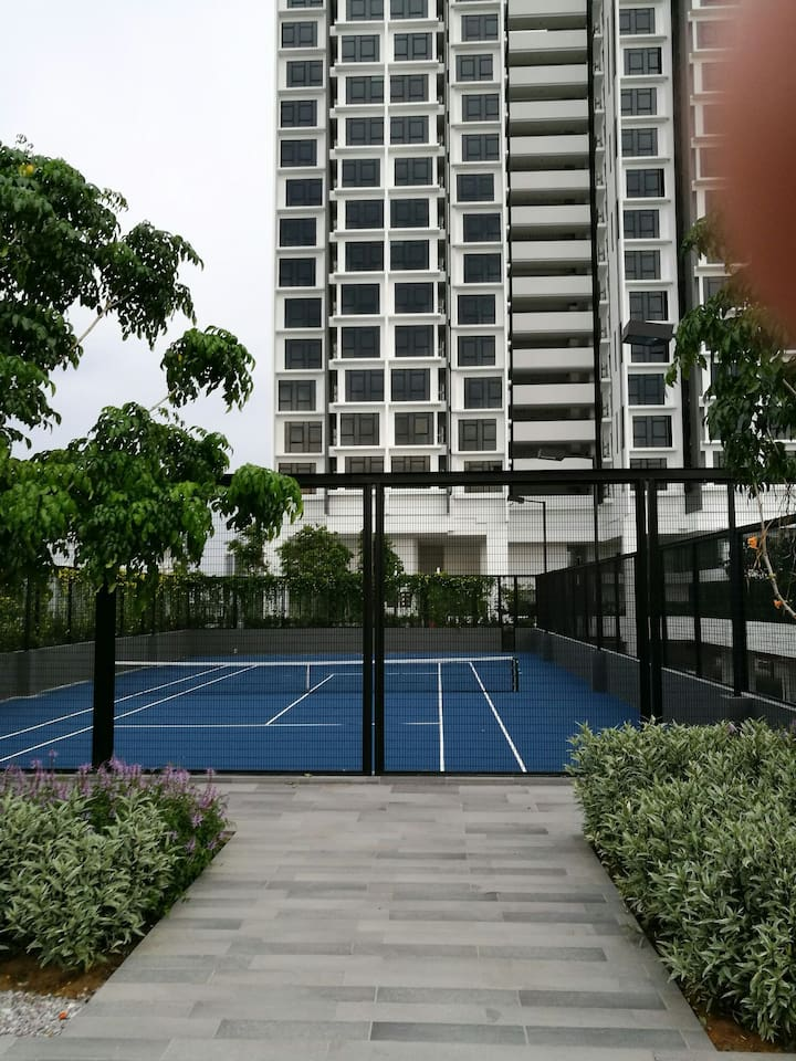 A view from tennis court