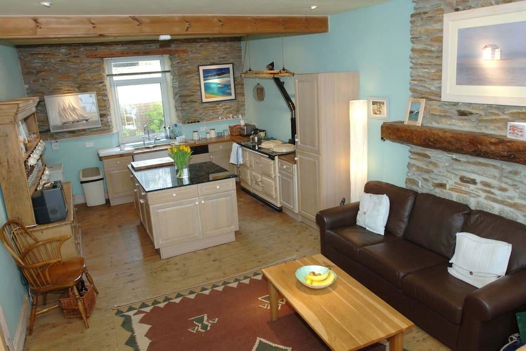 kitchen area Aga & range