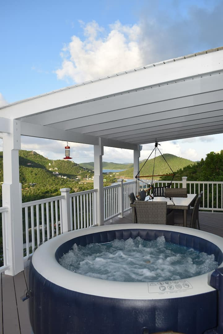 Recently rehabbed with spa, outdoor shower, views!