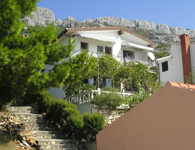 Two bedroom apartment with balcony and sea view Pisak, Omiš (A-1009-b) - Pisak - Daire