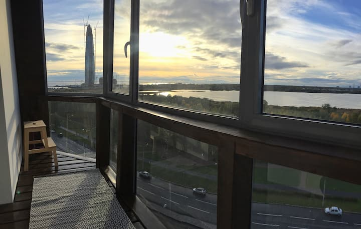 Apartment near FIFA stadium with excellent view