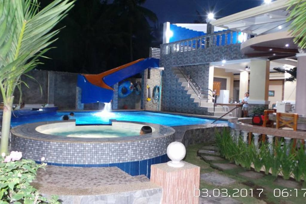 SWIMMING POOL WITH JACUZZI...JACUZZI WILL BE TURN ON UPON REQUEST ONLY.