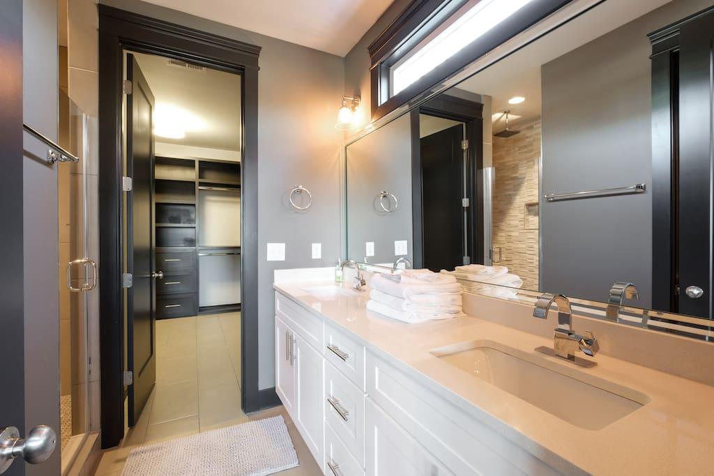 A Master bath/closet