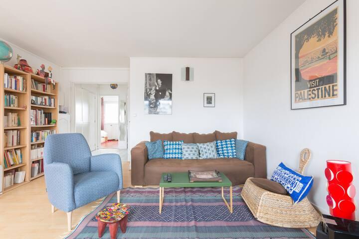 Emna's: Appartement calme, lumineux et confortable