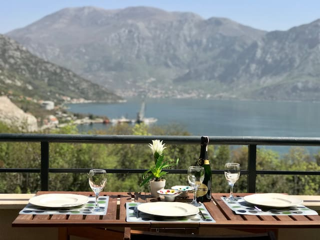 Sunny Penthouse with Stunning View of Kotor Bay