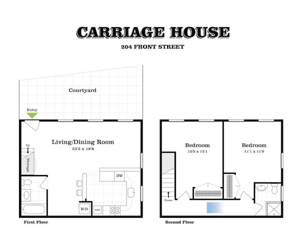 Cottage in the City - 2 bedroom, 2 bath DUMBO