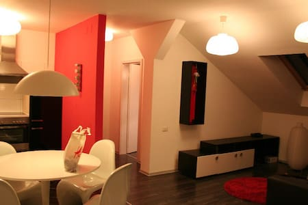 Red Black& White Apt.