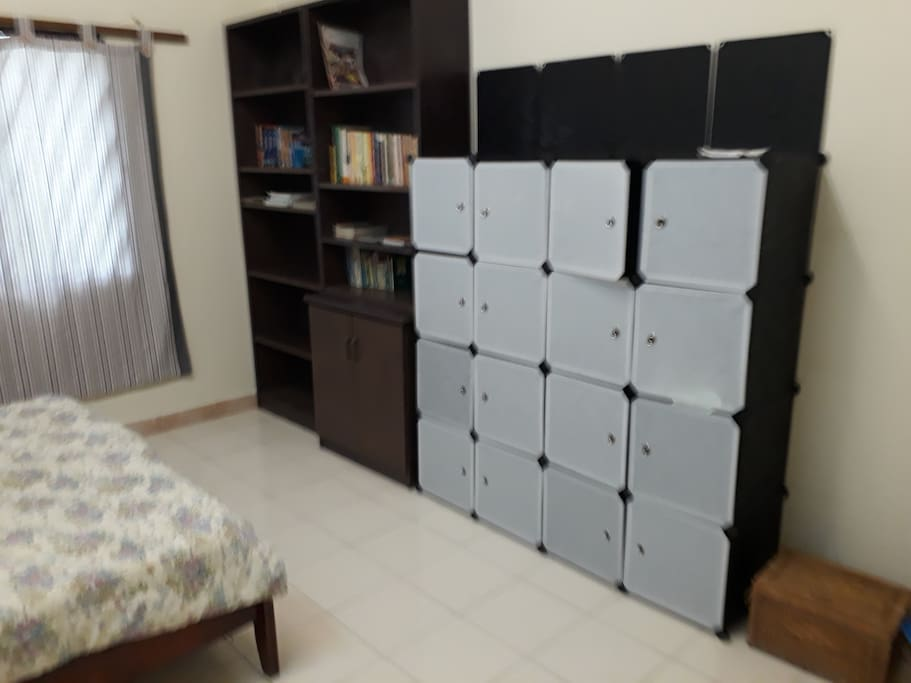 Bedroom For 2 Persons ( Queen Size Bed ) -Cupboard & Book Self