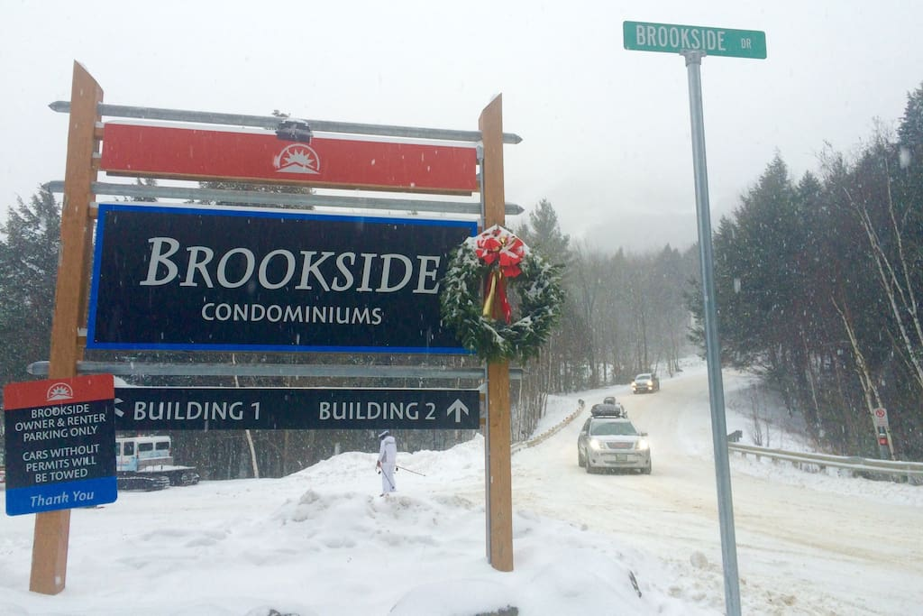 Brookside Condos ski in ski out.