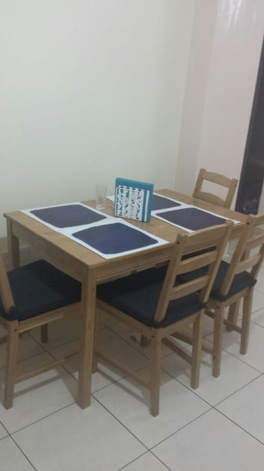 Dinner table in the kitchen