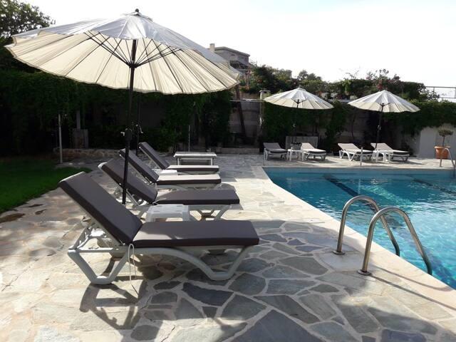 Beachfront, 2 single-beds house, shared pool [ 4 ]