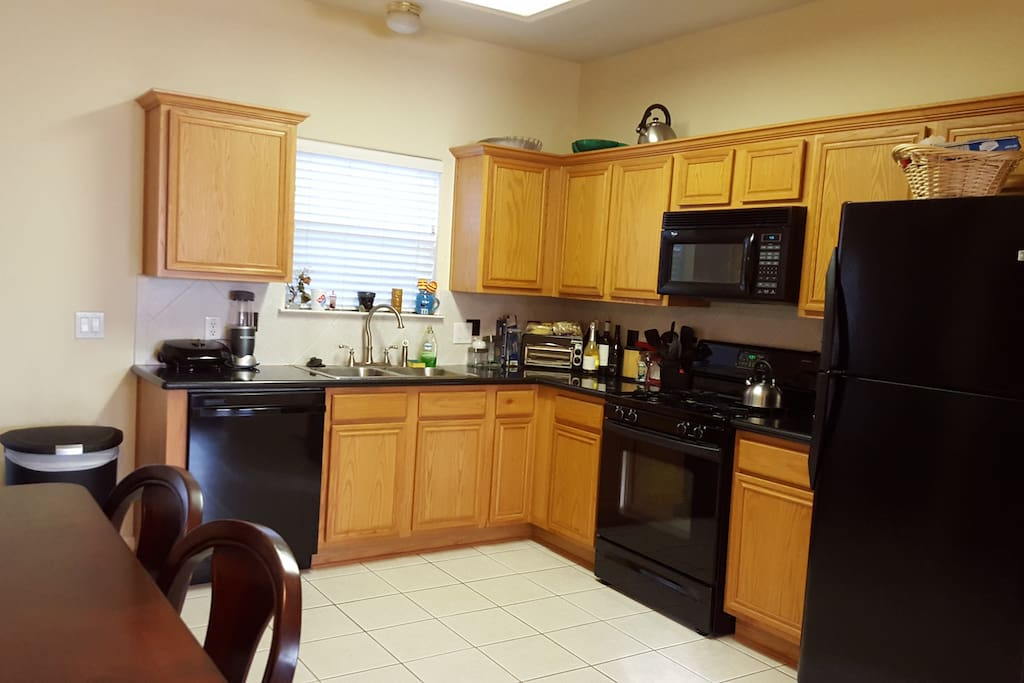 Functional Kitchen with stove microwave
