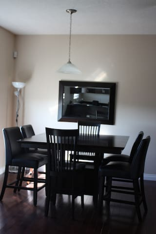 High Chair Dining set for 6 guests plus a high chair if needed.