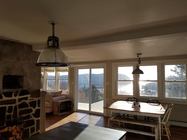 The many windows provide excellent water views from kitchen, dining and living areas, as well as bedrooms.