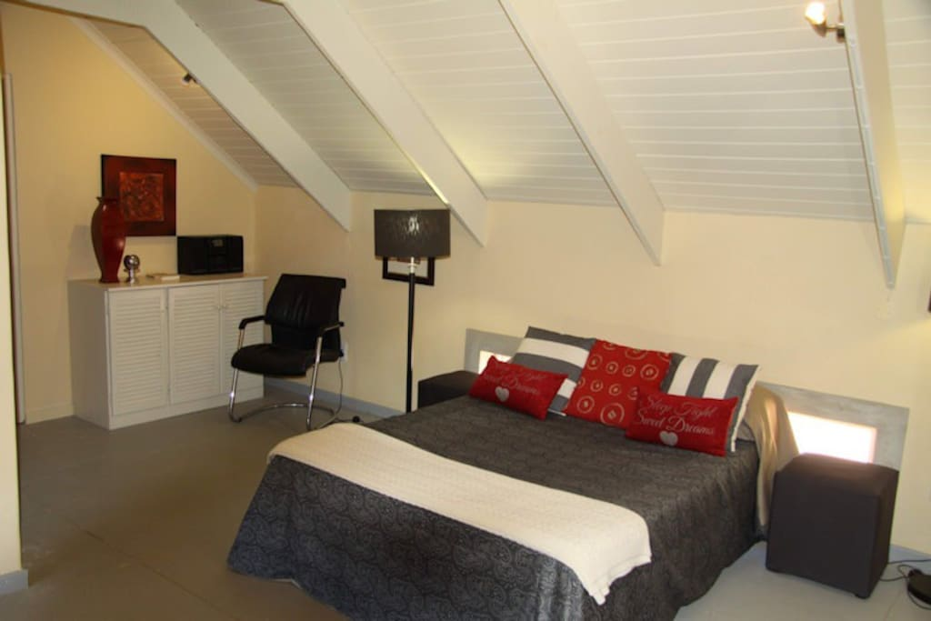 The Silver Suite has a double bed.