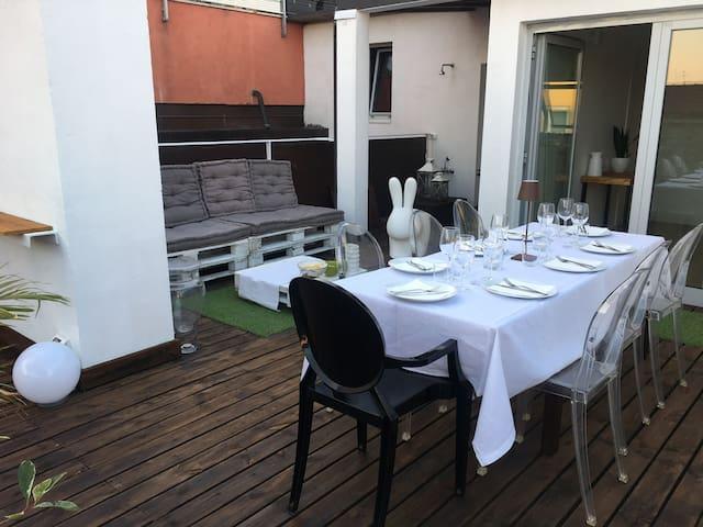 Luxury loft with terrace