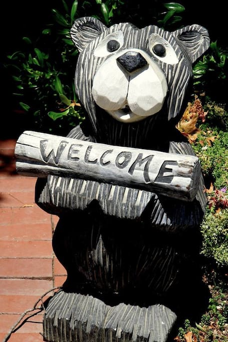 This little guy says it all, Welcome!
