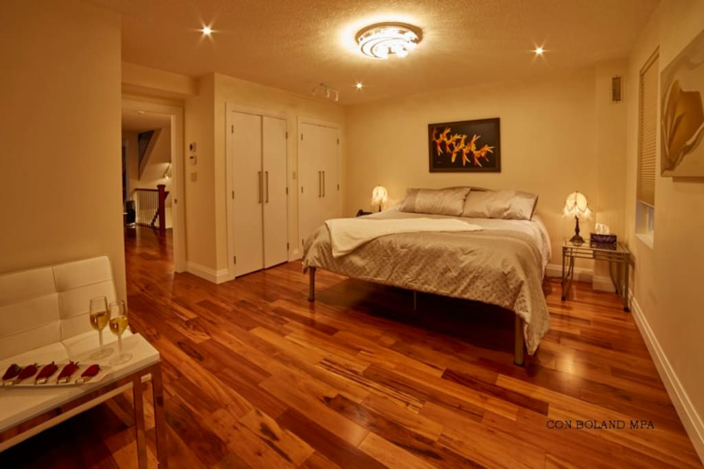 Master Suite with King Size Bed, Large Private On-suite, Jacuzzi, Steam Shower.