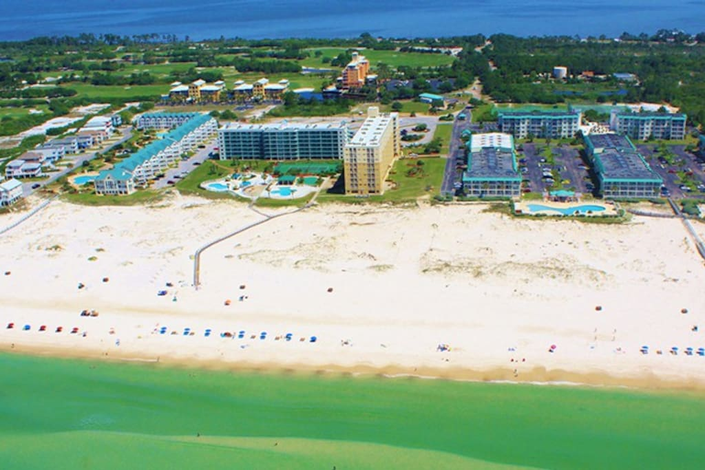 AERIAL VIEW OF GULF SHORES PLANTATION