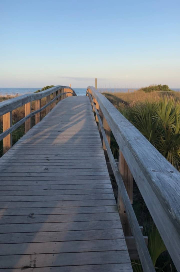 The boardwalk to balance.
