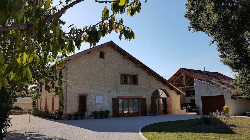Maison d'Hôtes Saint Alary - Chambre Anthracite