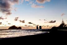 Mosteiros sand beach