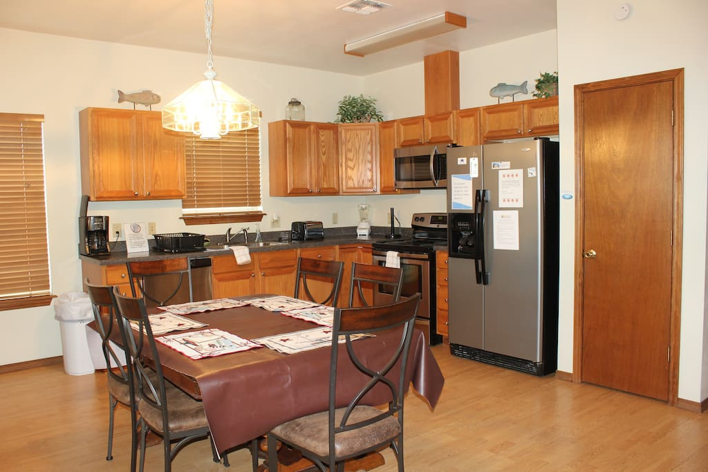 Upstairs Kitchen and Dining Room